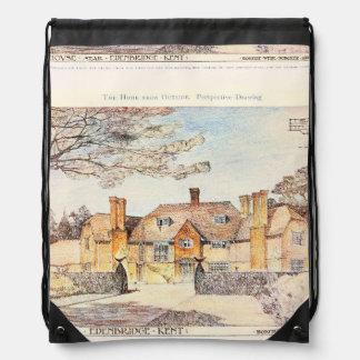 Vintage Garden Art - Crawford, Thomas Hamilton Drawstring Backpack