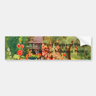 Vintage Garden Art - Steele, Zulma deL. Car Bumper Sticker