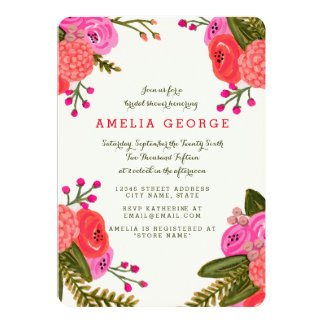 Vintage Garden Bridal Shower Card