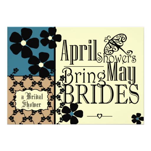 Vintage Garden Bridal Shower Personalized Announcements
