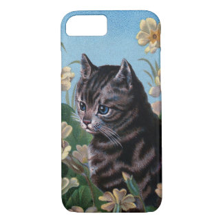 Vintage Garden Cat iPhone 7 Case