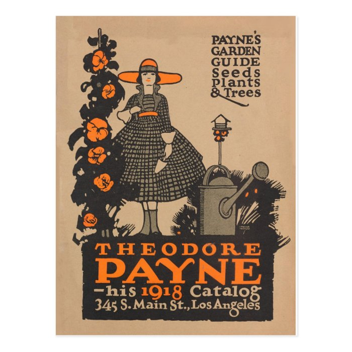 vintage garden catalogue ad card postcard zazzle. Black Bedroom Furniture Sets. Home Design Ideas