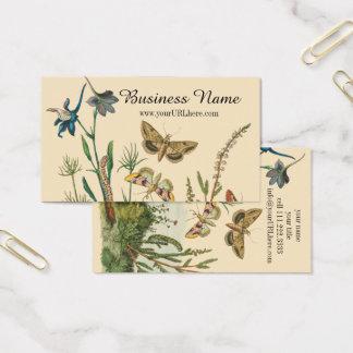 Vintage Garden Insects, Butterflies, Caterpillars Business Card