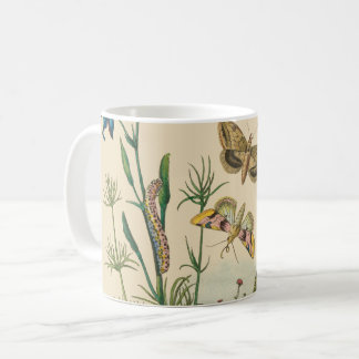 Vintage Garden Insects, Butterflies, Caterpillars Coffee Mug