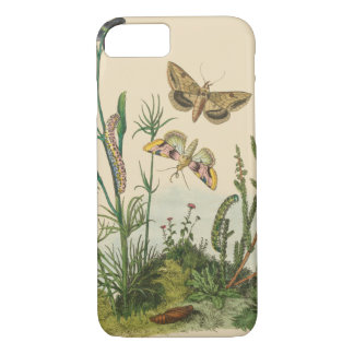 Vintage Garden Insects, Butterflies, Caterpillars iPhone 8/7 Case