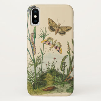 Vintage Garden Insects, Butterflies, Caterpillars iPhone X Case