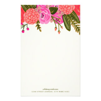 Vintage Garden Personalized Stationery