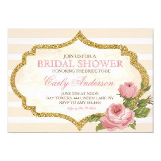 Vintage Garden Rose Bridal Shower Invitation