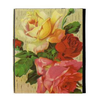 Vintage Garden Roses iPad Case
