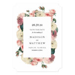 "Vintage Garden | Save the Date Announcement 5"" X 7"" Invitation Card"