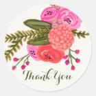 Vintage Garden Thank You Stickers