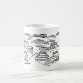 Vintage Garden Tools Basic White Mug