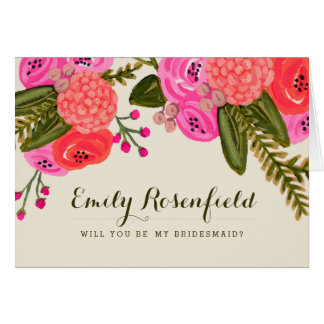 Vintage Garden Wedding Party Card