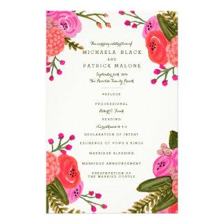 Vintage Garden Wedding Programs Flyer