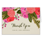 Vintage Garden Wedding Thank You Card