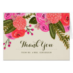 Vintage Garden Wedding Thank You Greeting Card