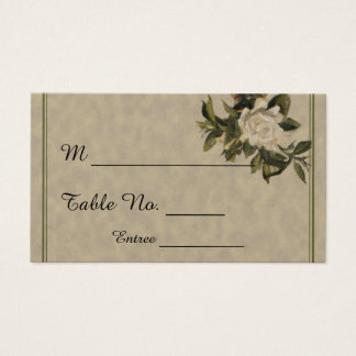 Vintage Gardenia Wedding Place Cards