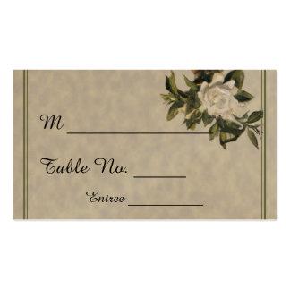 Vintage Gardenia Wedding Place Cards Business Card
