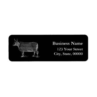 VINTAGE Gardening Tools Cow B Address Labels