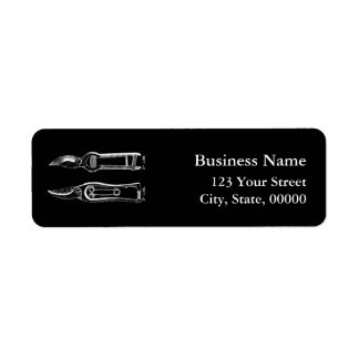 VINTAGE Gardening Tools Pruners B Address Labels