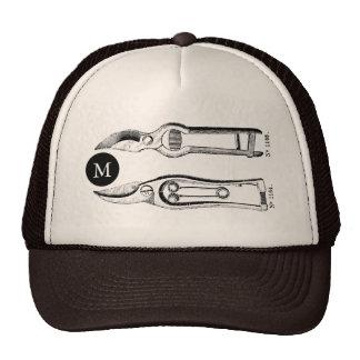 VINTAGE Gardening Tools Pruners Monogram T Hat