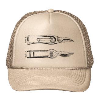 VINTAGE Gardening Tools Pruners Trucker Hat
