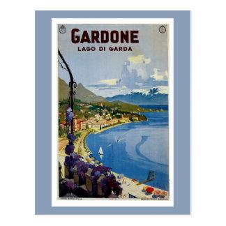 Vintage Gardone Lake Garda Italian travel Postcard