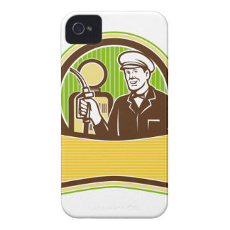 Vintage Gas Attendant Retro iPhone 4 Cover