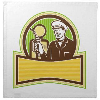 Vintage Gas Attendant Retro Napkin