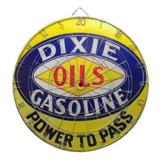 Vintage Gas Pump Dixie Oils Gasoline Hot Rod Era Dartboard