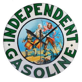 Vintage Gas Pump Independent Gasoline Hot Rod Era Large Clock