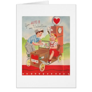 Vintage Gas Station Valentine's Day Card