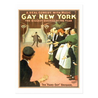Vintage Gay New York Theater Poster Postcard