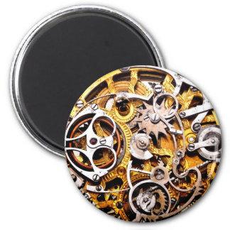 Vintage Gears Steampunk Steam Punk Clock Watch Magnet