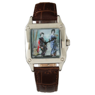 Vintage Geisha and Her Maiko 芸者 舞妓 Old Japan Watch
