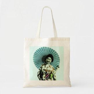Vintage Geisha and Her Parasol Old Japan