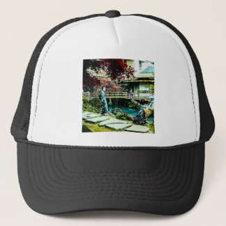 Vintage Geisha at the Kusatsu Tea House Maple Tree Trucker Hat