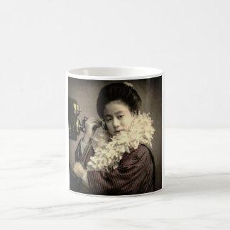 Vintage Geisha Making a Midnight Call in Old Japan Coffee Mug
