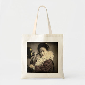 Vintage Geisha Making a Midnight Call in Old Japan Tote Bag