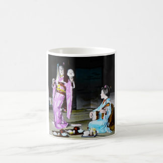 Vintage Geisha Practicing Classic Noh Dancing Coffee Mug