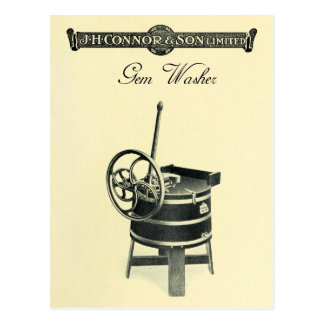 Vintage Gem Clothes Washer Postcard