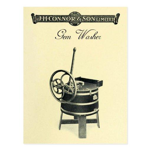 Vintage Gem Clothes Washer Postcard