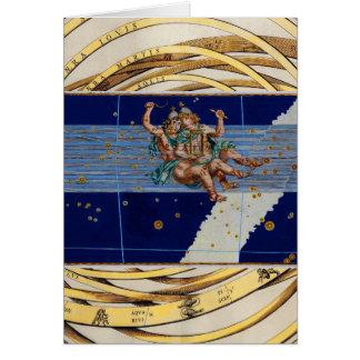 Vintage Gemini Star Chart Card