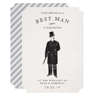Vintage Gent | Best Man Request Card