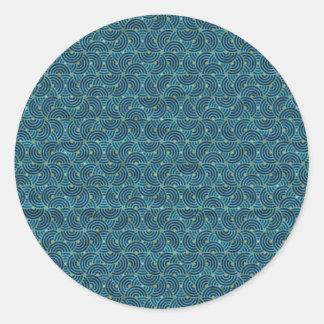 Vintage Geo Half Circles Sticker