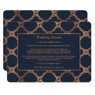 Vintage Geometric Art Deco Gatsby Wedding Detail 11 Cm X 16 Cm Invitation Card