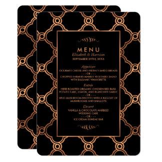 Vintage Geometric Art Deco Gatsby Wedding Menu 11 Cm X 16 Cm Invitation Card