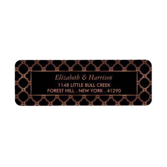 Vintage Geometric Art Deco Gatsby Wedding Return Address Label