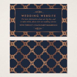 Vintage Geometric Art Deco Gatsby Wedding Website Business Card