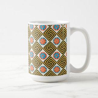 Vintage Geometric Ethnic Inspired Abstract Basic White Mug